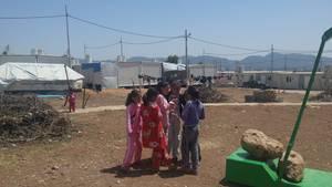 Kinder im Dawoodiya-Flüchtlingslager im Nordirak
