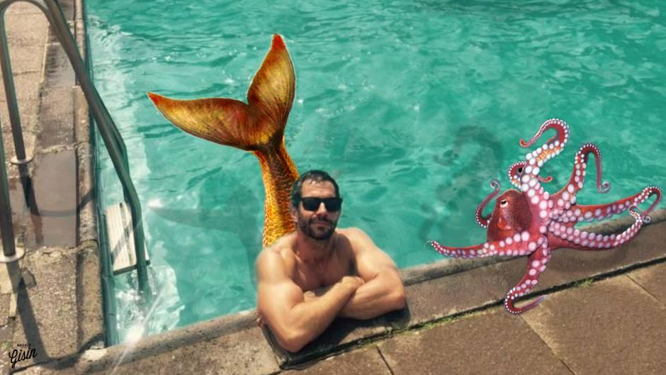 Die kleine Meerjungfrau: Micky Beisenherz im Schwimmbad