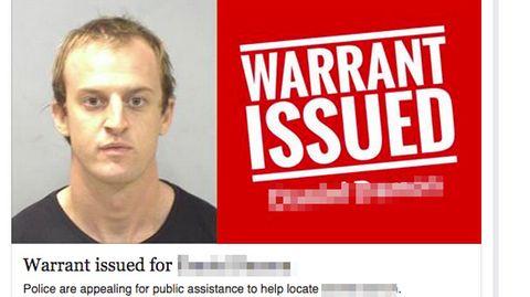 Der Facebook-Screenshot der Polizei zeigt den Verdächtigen und auch seinen Kommentar