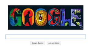 """Ganz im Stile ihrer """"Die drei ???""""-Cover: das Google Doodle für Aiga Rasch"""