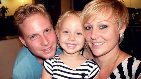 Michèle Morell zusammen mit ihrem Mann David und der vierjährigen Emily