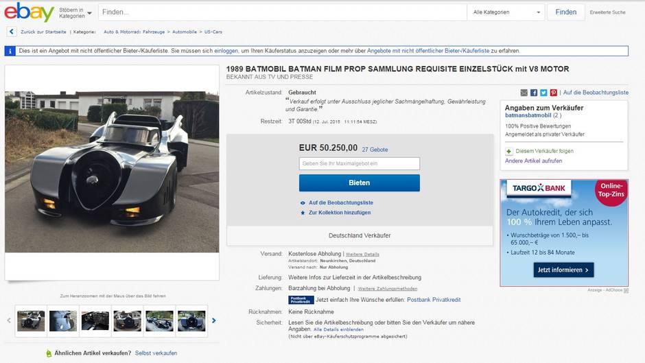 Das Batmobil bei Ebay