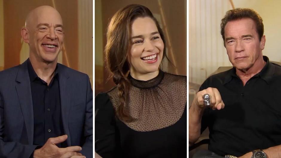 """Die """"Terminator Genisys""""-Stars beim exklusiven Interview in Berlin."""