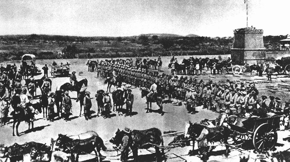Deutsche Schutztruppe in Südwest-Afrika um 1904