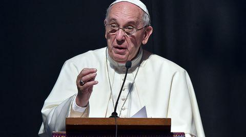 Papst Franziskus während seiner Rede in Santa Cruz de la Sierra