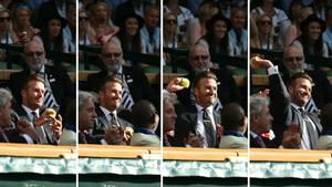 David Beckham auf der Wimbledon-Tribüne