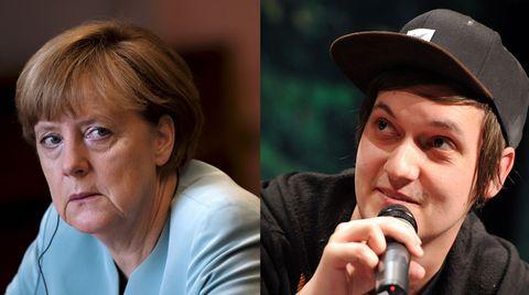 Bundeskanzlerin Angela Merkel und der YouTube-Star LeFloid