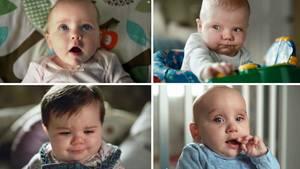 Babys mit lustiger Mimik