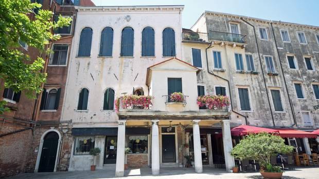 Die Fassade der Locanda del Ghetto