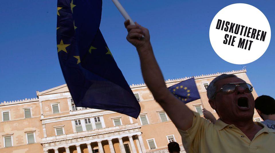 Viele Griechen wollen, dass sich die Regierung mit den Partnern und Gläubigern verständigt.
