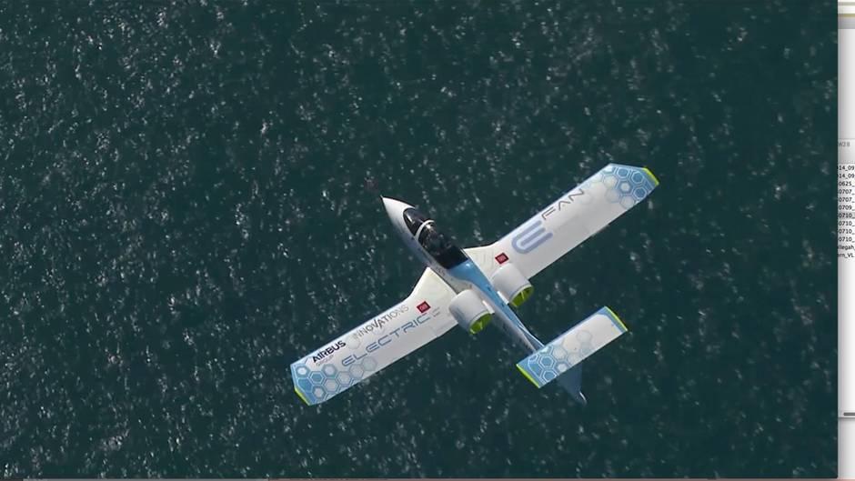 Testflug des Airbus E-Fan: Die Zukunft des Fliegens ist elektrisch