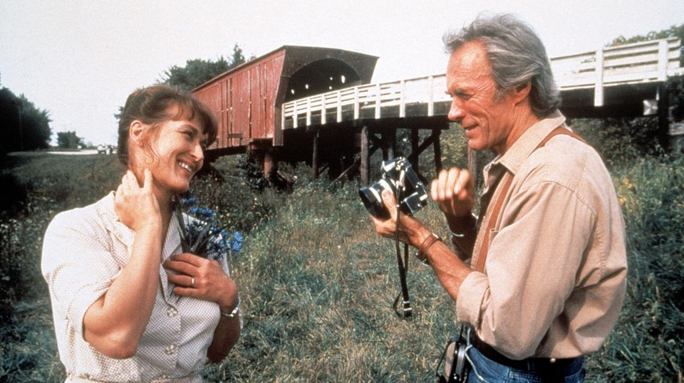 """Meryl Streep und Clint Eastwood im Film """"Die Brücken am Fluss"""" aus dem Jahr 1995"""
