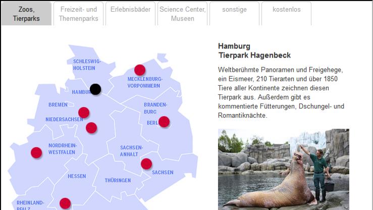 freizeitpark deutschland karte Das sind die 50 besten Freizeitparks: Interaktive Deutschlandkarte