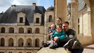 Susan Salzbrenner mit ihrem Mann Eduardo und den Kindern Vanessa und Victor