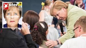Angela Merkels Reaktion auf das weinende Flüchtlingsmädchen Reem wird im Netz mittlerweile hitzig diskutiert.