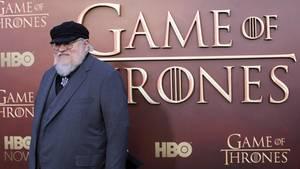 """George R.R. Martin, der Autor der Vorlage von """"Game of Thrones"""", bei der diesjährigen Premiere der 5. Staffel in San Francisco"""
