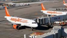 Ein Flughafensprecher bestätigte die Landung des Easyjet-Flugzeugs in Berlin