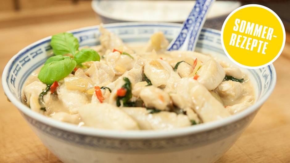Sommerrezepte der Foodtuber: Leichtes Sommergericht? Probieren Sie scharfes Hühnchen in Kokosmilch