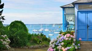 Ein Haus an der französischen Bretagne