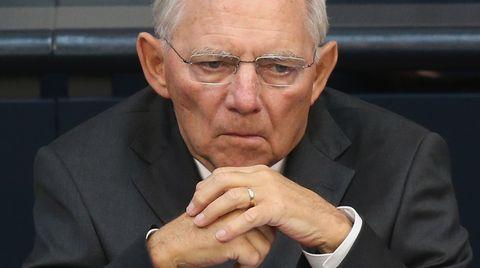 Finanzminister Wolfgang Schäuble sitzt im Deutschen Bundestag