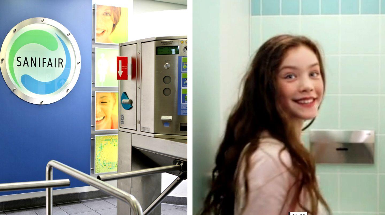Sanifair hat einen neuen Werbespot mit einem Mädchen drehen lassen.