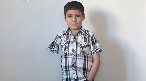 Ammar S., 9 Jahre, Flüchtlingslager, in Irbid, Jordanien