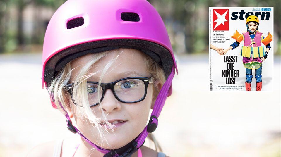 Kinder-Sicherheit: Selbst im Bus mit Helm – absurd!