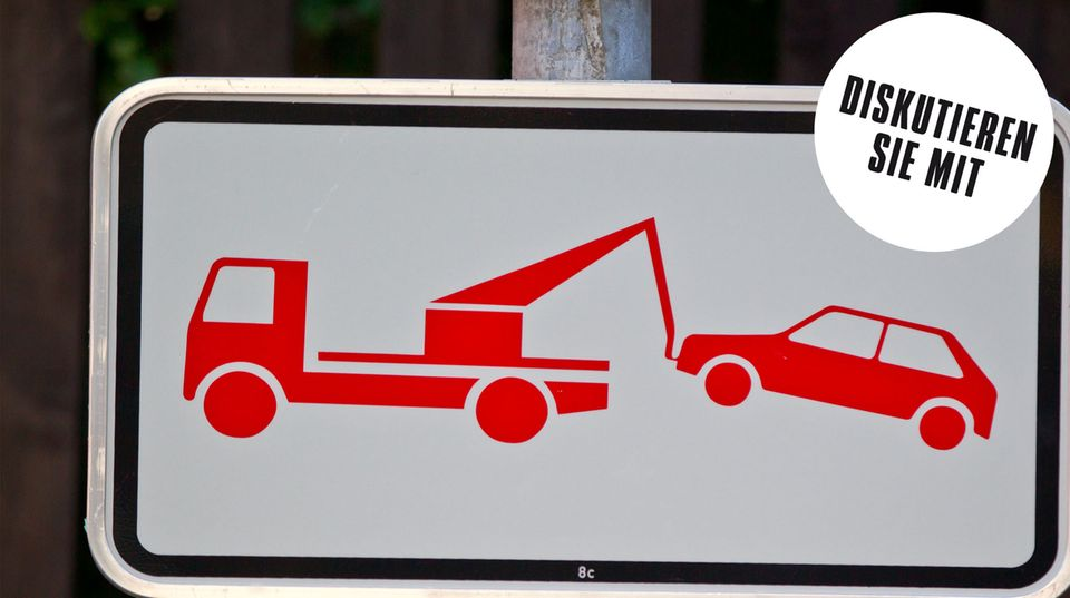 Dieses Schild besagt: Wer falsch parkt, wird abgeschleppt.