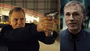"""Erbitterte Widersacher im neuen """"Bond""""-Film """"Spectre"""": Daniel Craig und Christoph Waltz"""