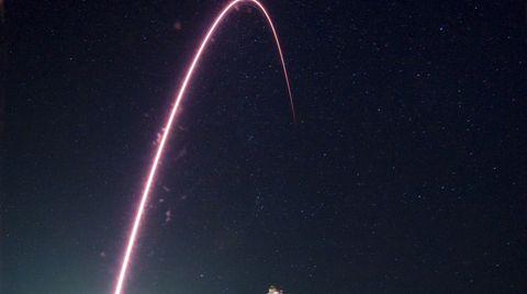 Die Sojus-Rakete auf dem Weg zur ISS