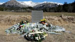 Die Gedenkstätte unweit der Absturzstelle des Germanwingsflugs 4U9525 in Frankreich