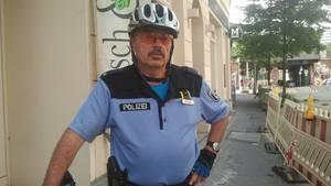 Bürgerpolizist Frank Demuth im Einsatz