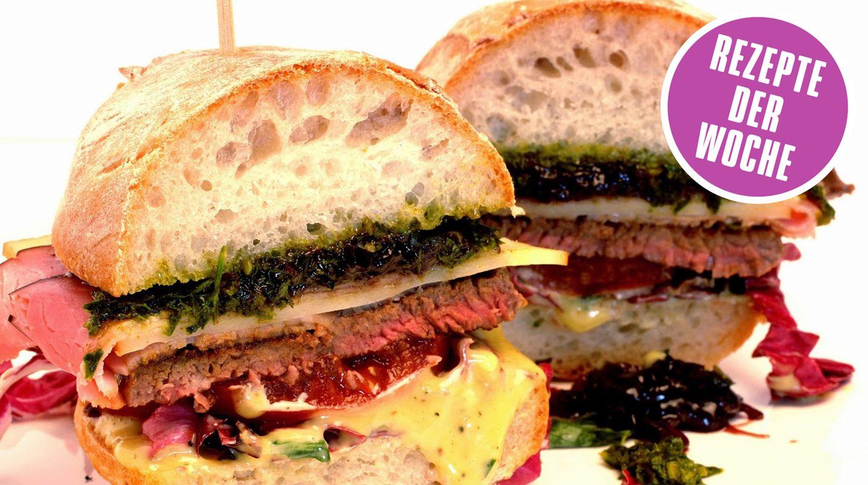 """Chivito - DER Burger aus Uruguay. Foodbloggerin Sonja von """"Amor & Kartoffelsack"""" präsentiert ein geniales Rezept für den unschlagbaren Burger aus Lateinamerika."""