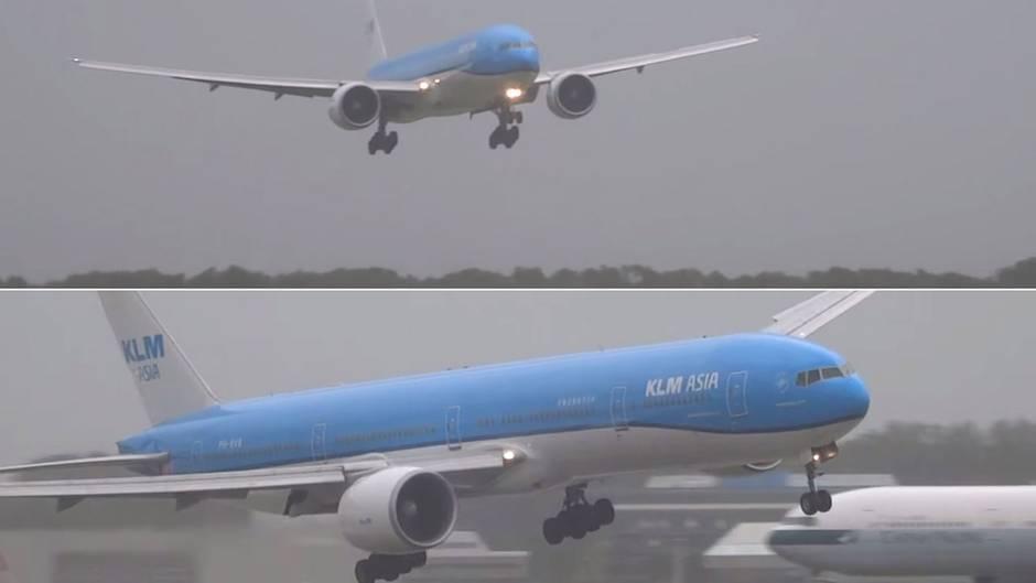 Stürmische Landung