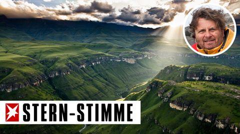 M. Poliza: Bilder meines Lebens: Gottes Strahlen über den Drakensbergen