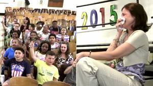 Schüler rühren ihre Lehrerin zu Tränen