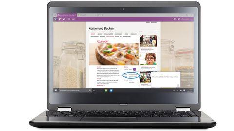 Im neuen Browser Microsoft Edge kann man Texte und Bilder markieren