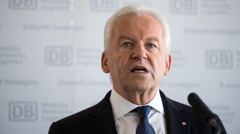 Der Vorstandsvorsitzende Rüdiger Grube verkündete den Gewinneinbruch bei der Bahn