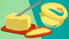 Butter oder Margarine - was darf auf's Brot?