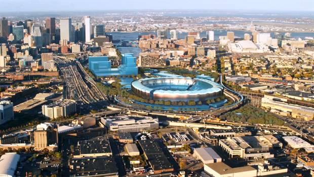 Visualisierung eines Olympiastadions in Boston