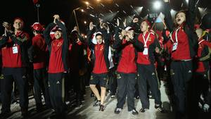Das deutsche Team bei den Maccabi Games in Berlin ist in Feierlaune