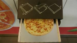 Hier kommt die Pizza aus dem Automaten