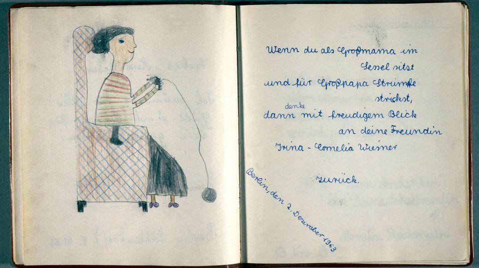 Ausschnitt aus einem Poesiealbum aus dem Jahr 1963