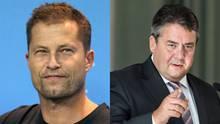 Filmstar Til Schweiger und SPD-Chef Sigmar Gabriel