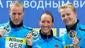 Schwimm-WM: Goldmedaille für Freiwasser-Mannschaft