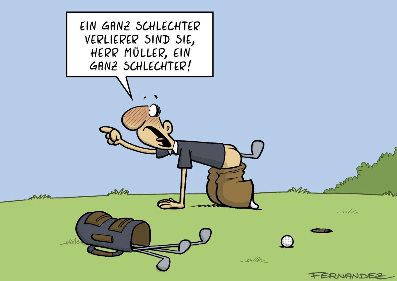 Cartoon-Buch: Golf ist doch gefährlich