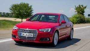 Der Audi A4 ist ebenfalls in Frankfurt zu sehen.