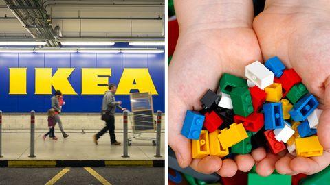 Pepsi-Flaschen, Lego-Steine und das Schild von Sony