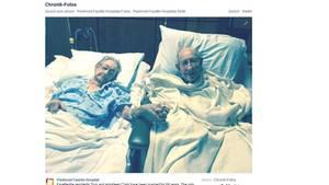 Tom und Arnisteen Clark in einem Zimmer des Piedmont Fayette Hospital