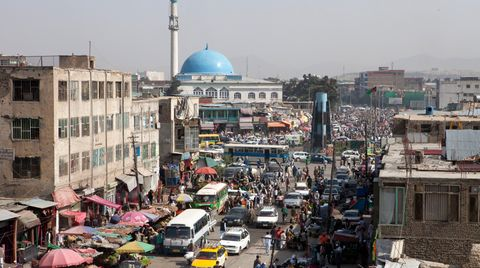 Blick auf Downwon Kabul
